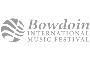 Bowdoin International Music Festival logo grey