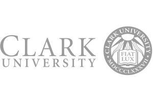 Clark University logo grey