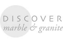 Discover Marble and Granite logo greyscale
