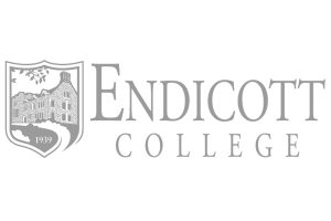 Endicott College logo greyscale