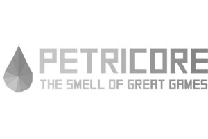 Petricore Games logo greyscale
