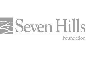 Seven Hills Foundation logo greyscale