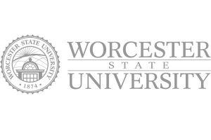 Worcester State University logo greyscale
