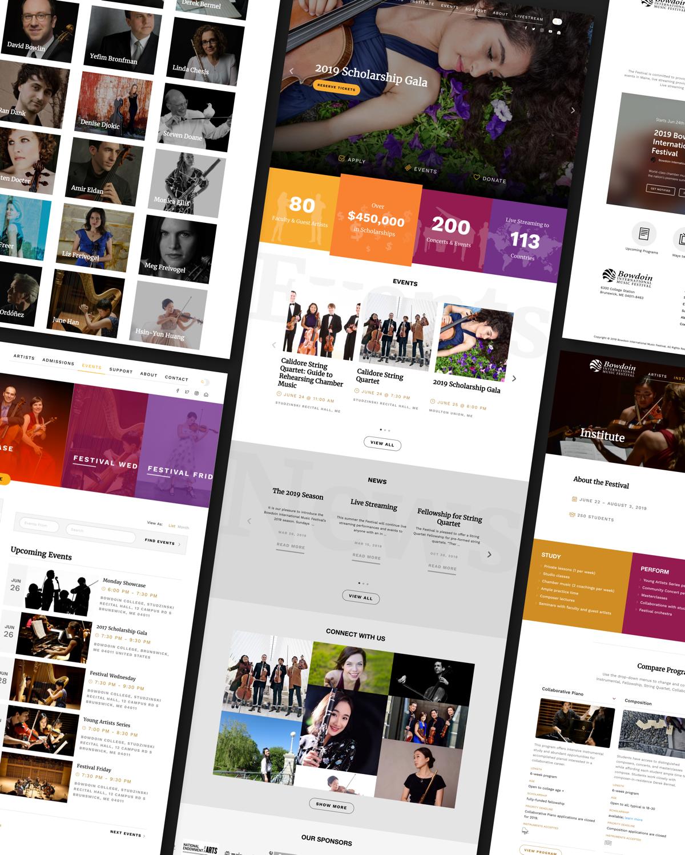 Bowdoin Festival website graphic