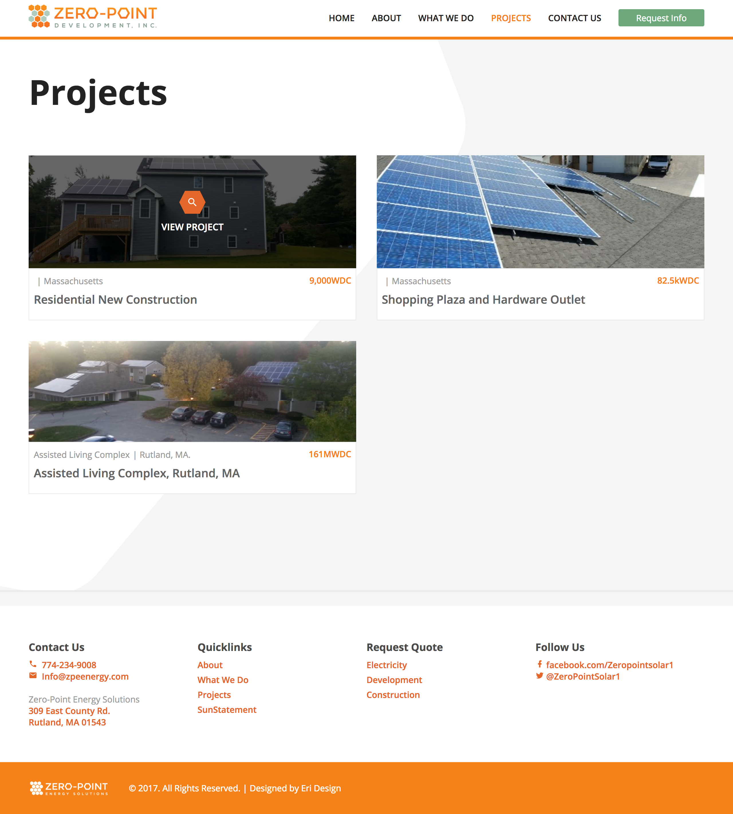 Zero-Point Development Projects Page