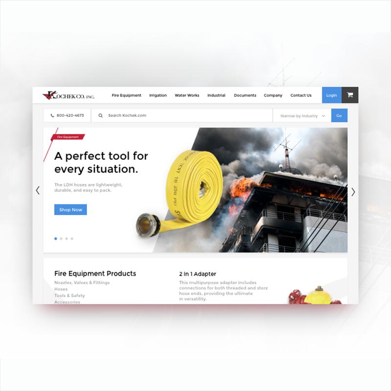 Kochek website homepage design