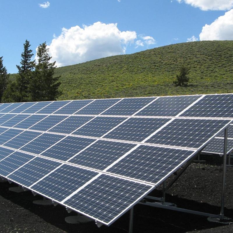 Zero Point Development solar panel in a field