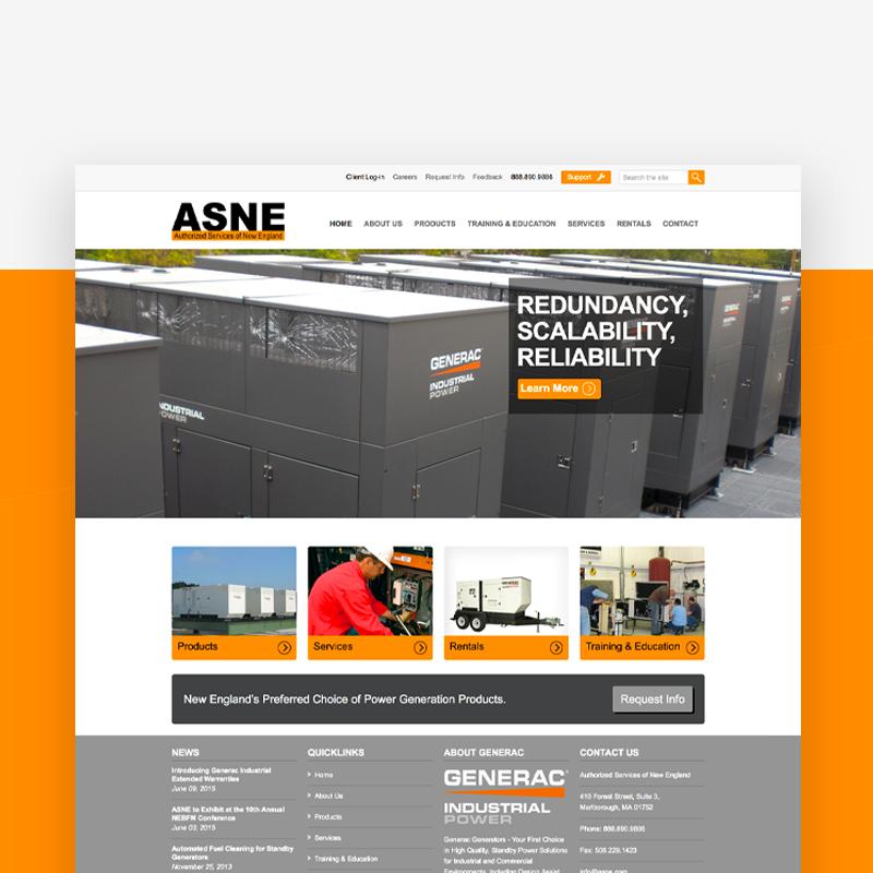 ASNE website design