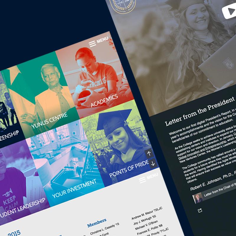 Website design for Becker's President Report in 2015