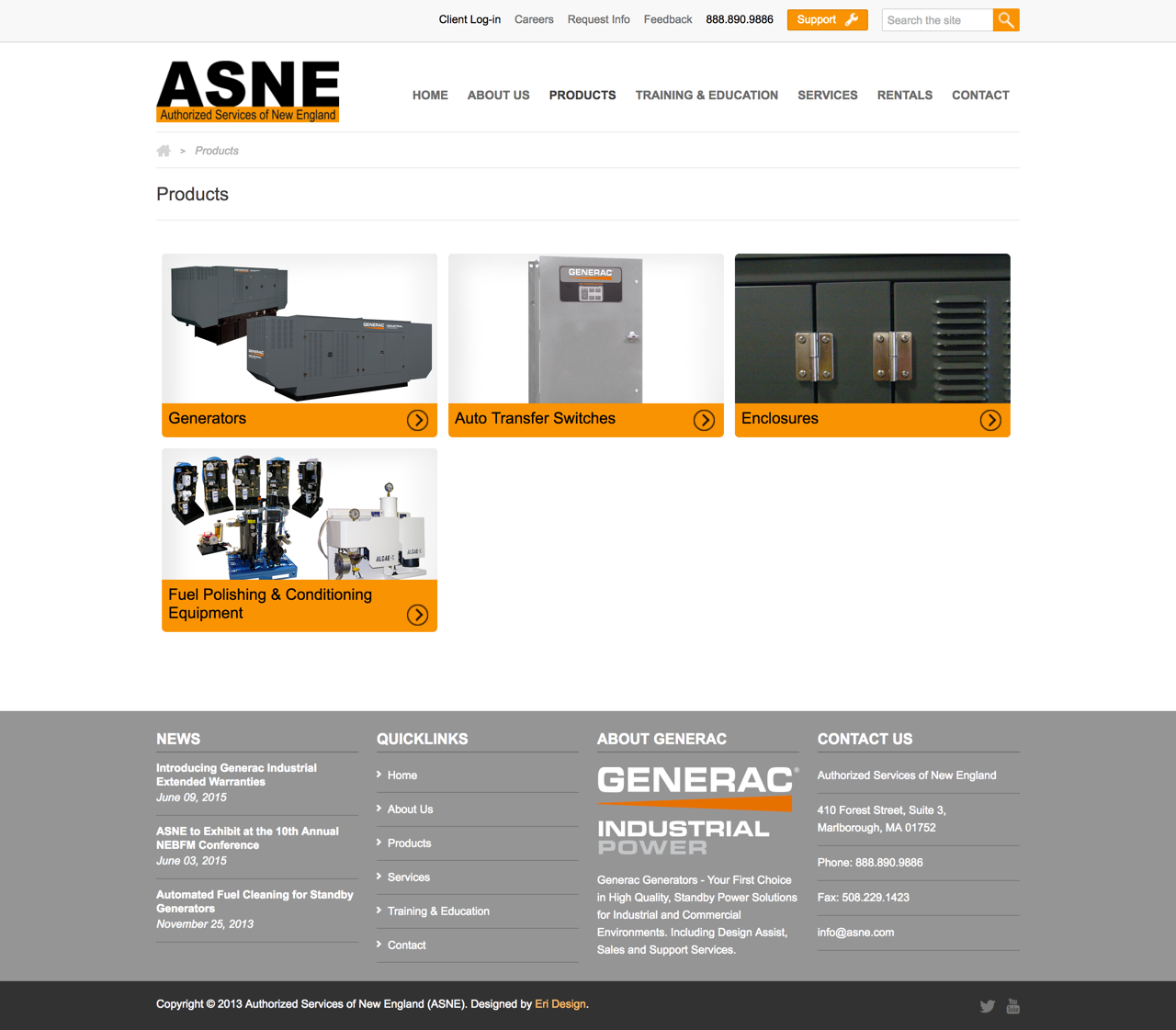ASNE Products Landing Page