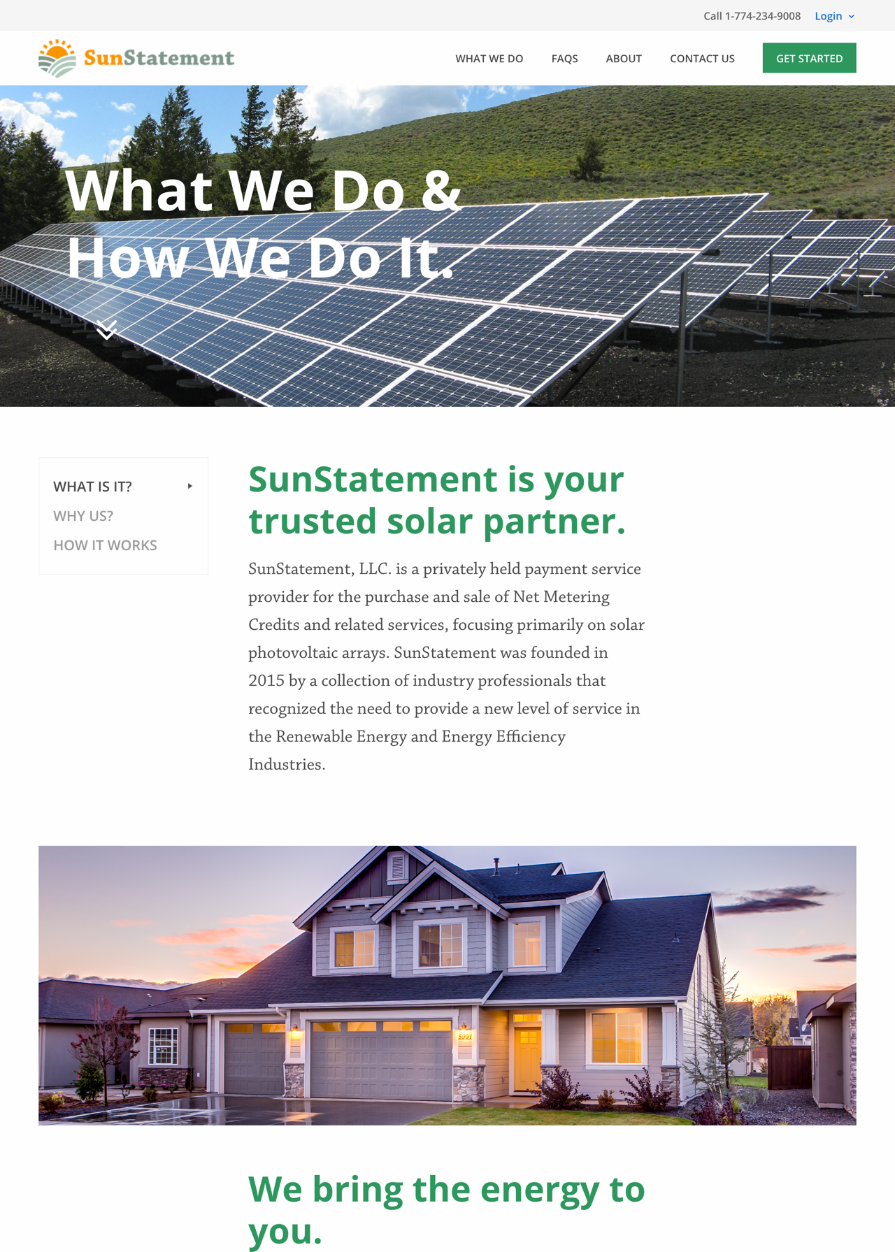 Sun Statement What We Do Page