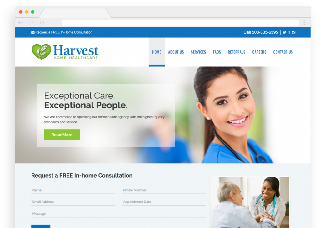 Harvest Home Healthcare Homepage