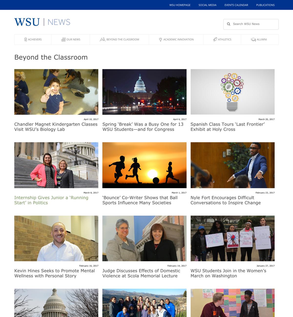 WSU News Category View