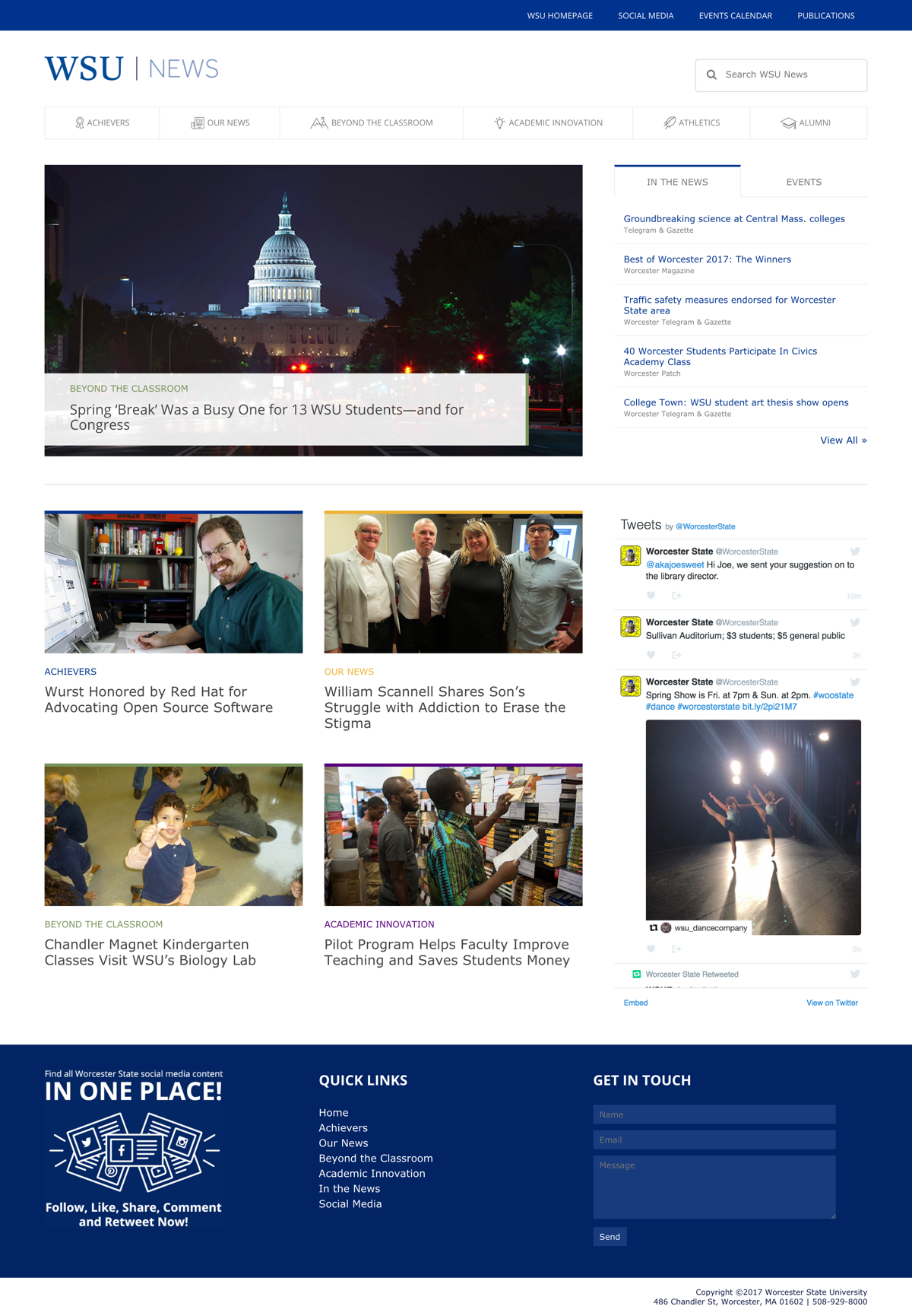 WSU News Full Landing Page