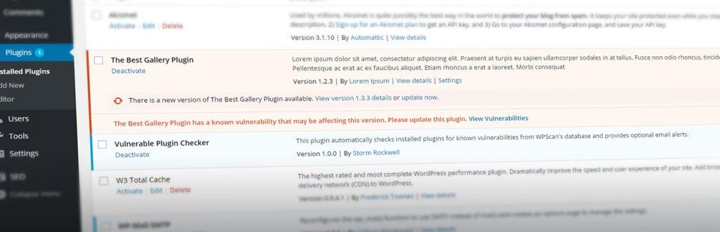 Vulnerable Plugin Checker Screenshot