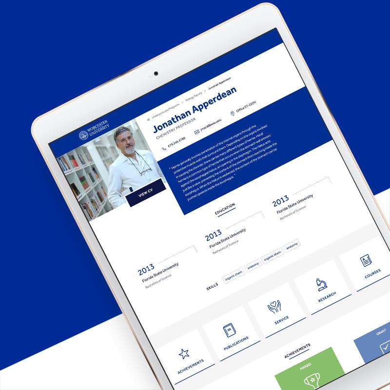 WSU faculty custom website component