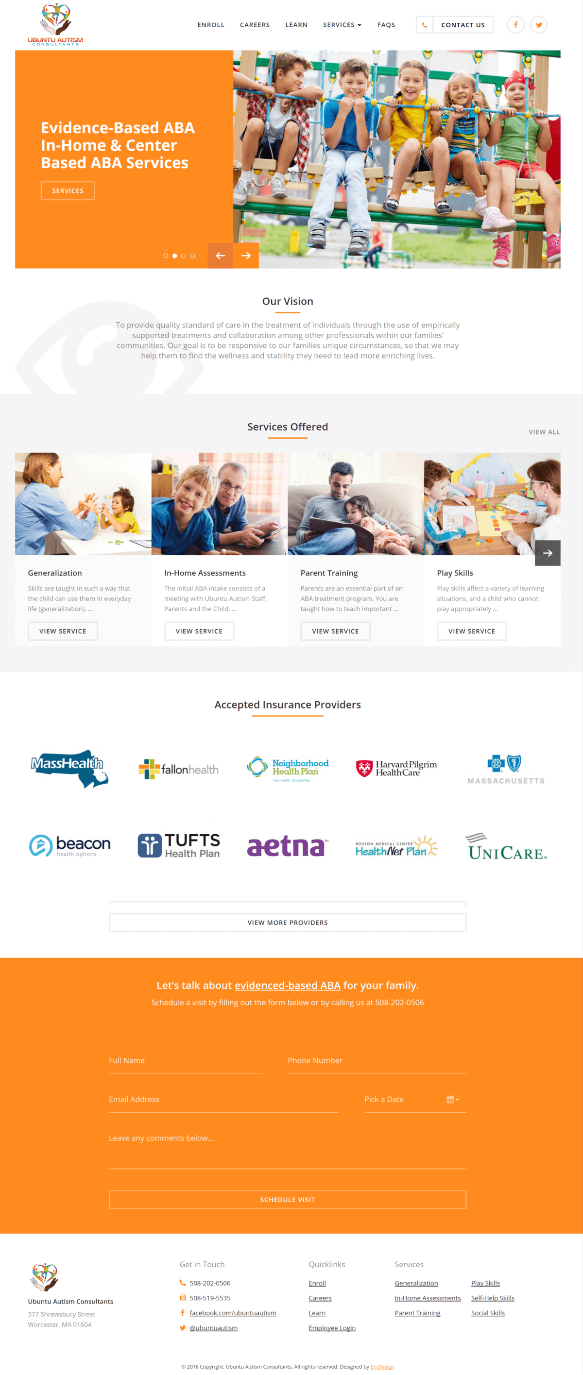 Ubuntu Autism Homepage Screen