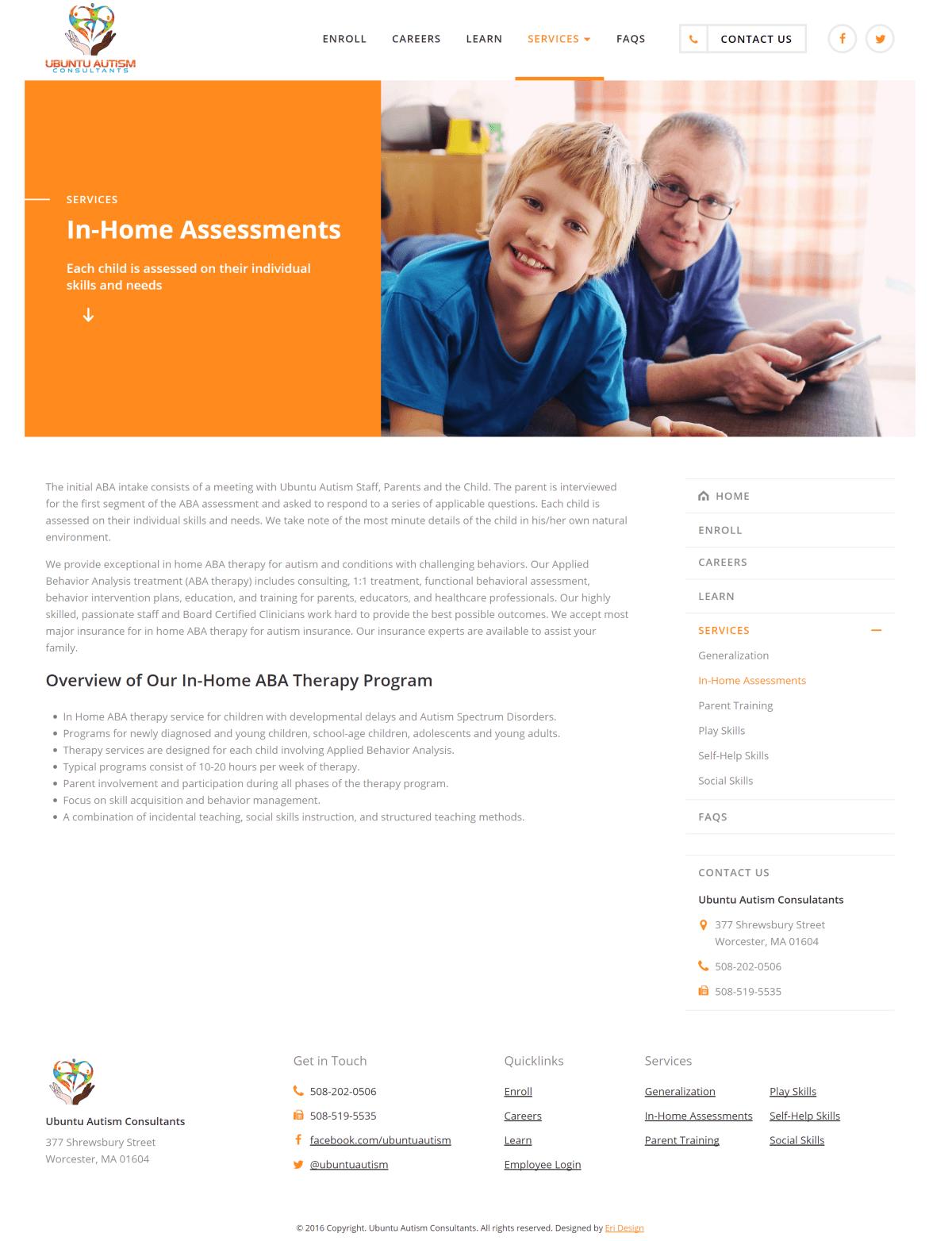 Ubuntu Autism Service Page