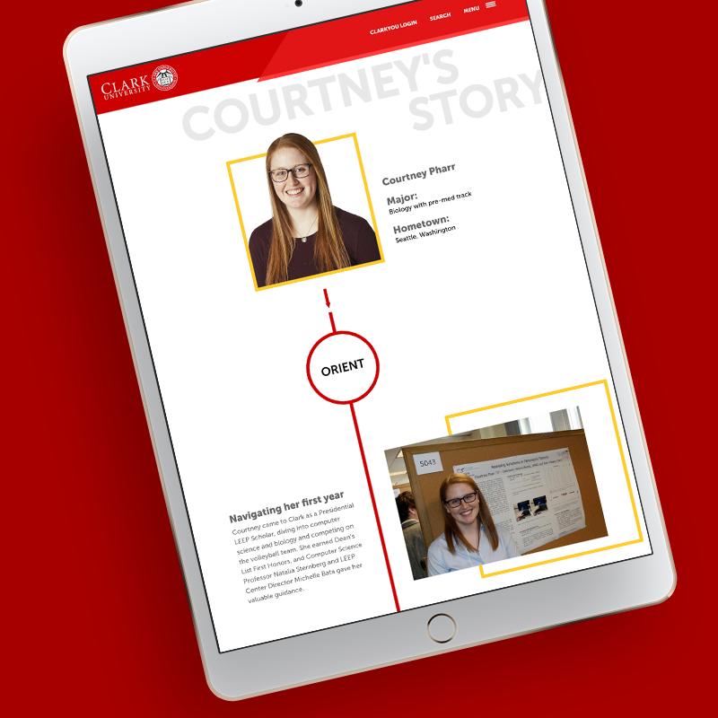 Clark LEEP Microsite on iPad
