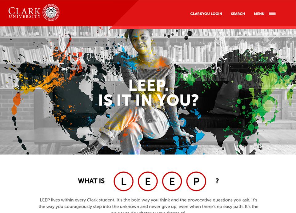 Clark University LEEP microsite design