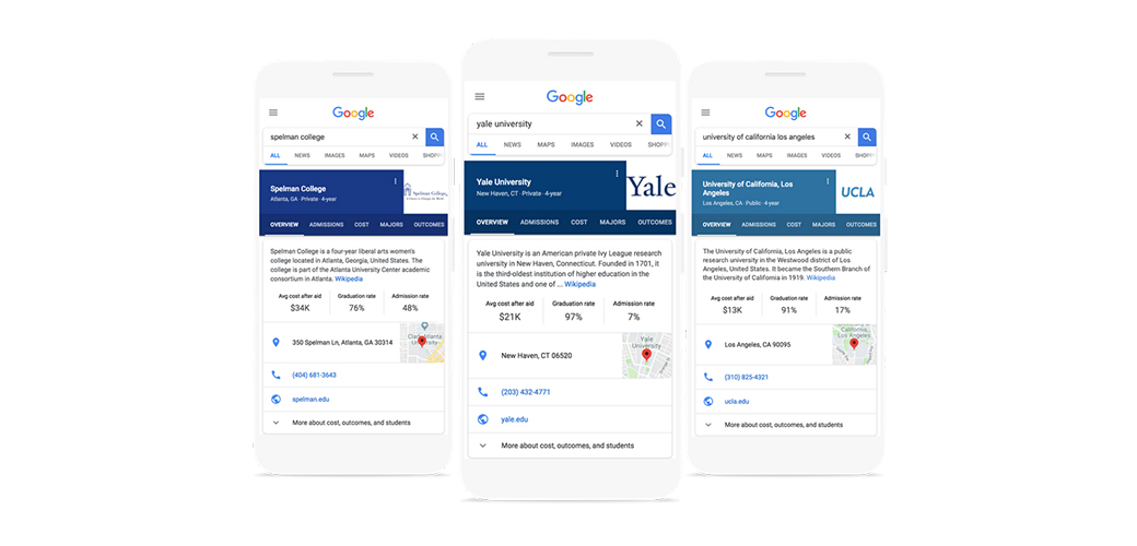 Google's New College Search Feature and How It Will Affect College Websites