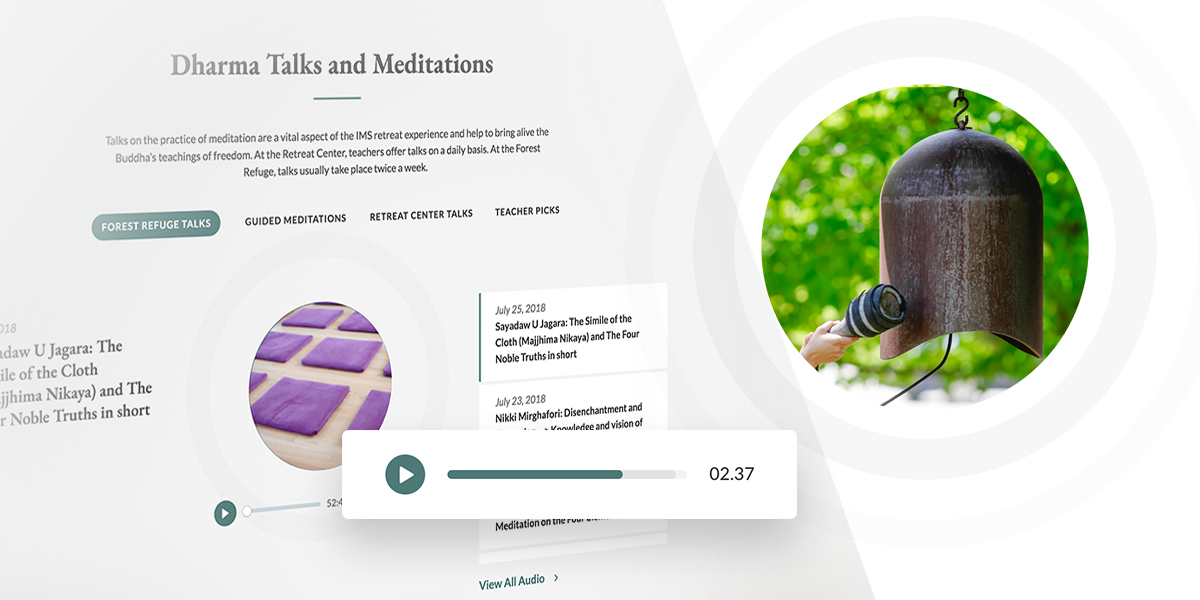Insight Meditation Society audio component design