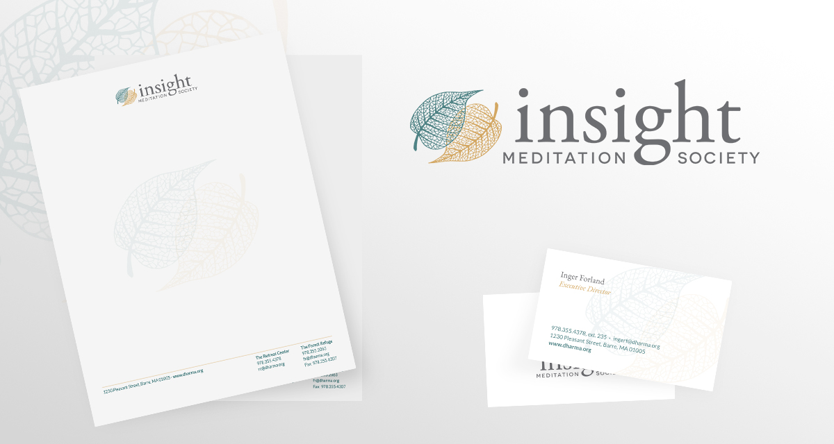 Insight Meditation Society branding collateral