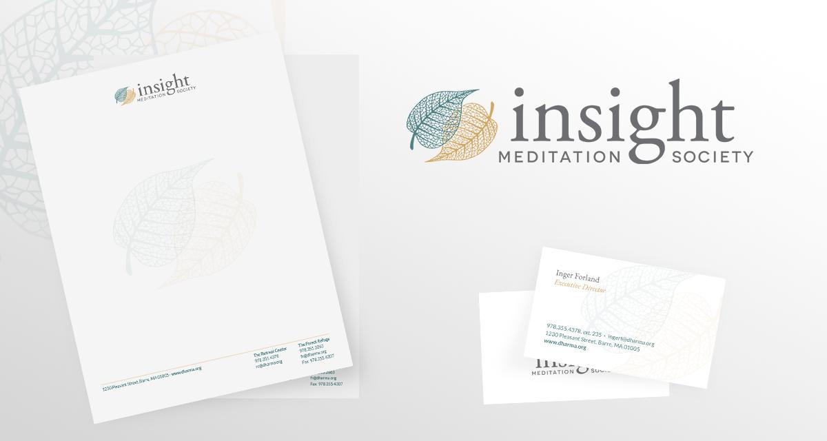 Insight Meditation Society Branding Collateral