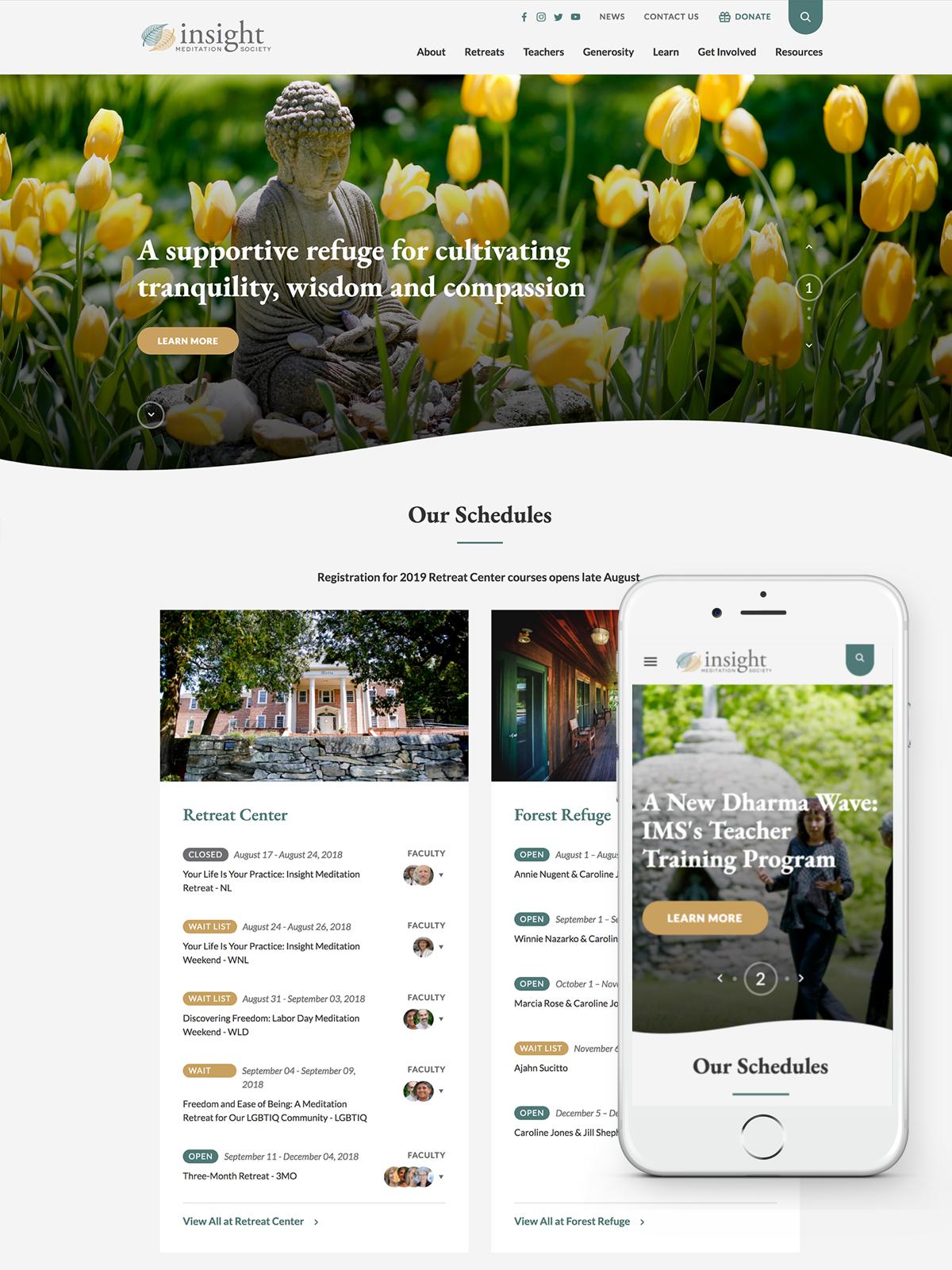 Insight Meditation Society Homepage