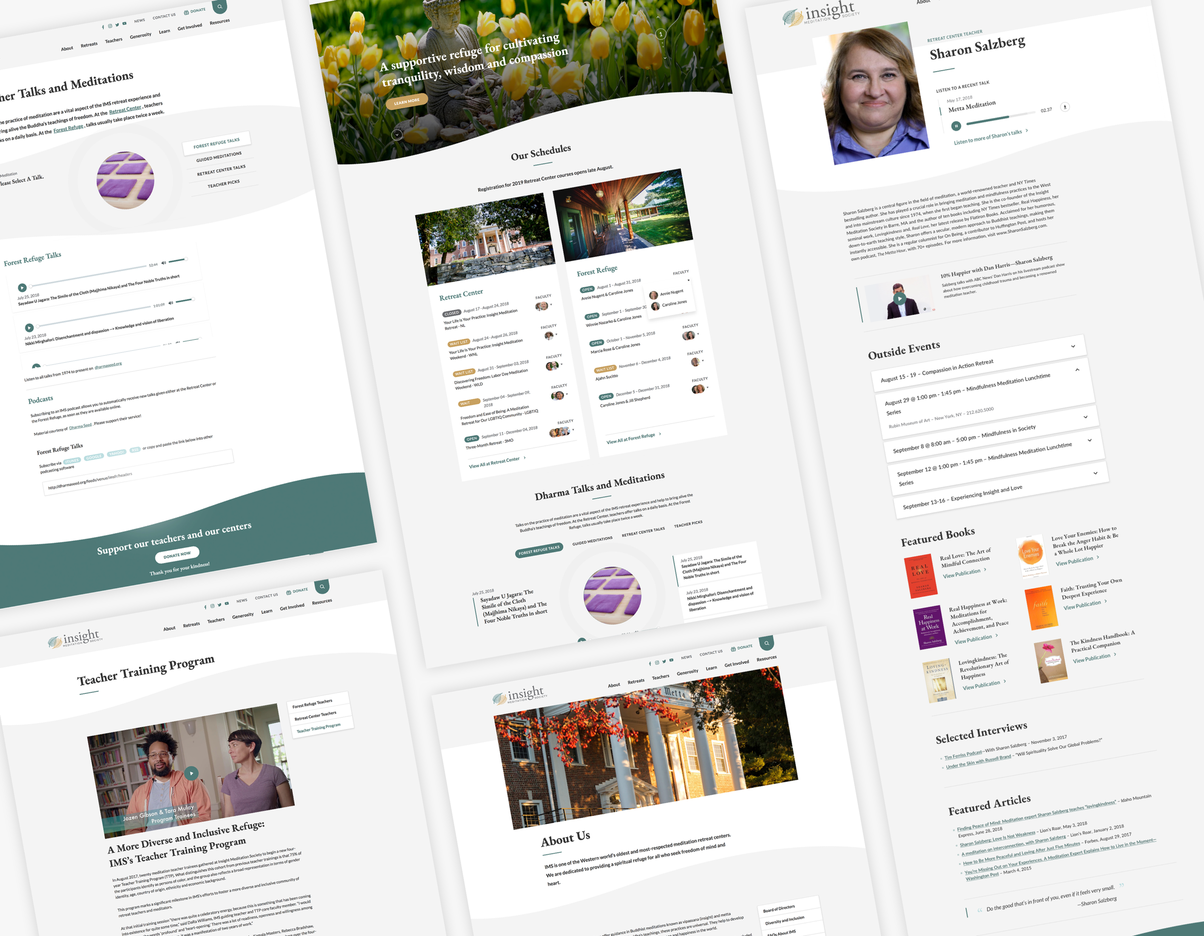 IMS web design screen collage