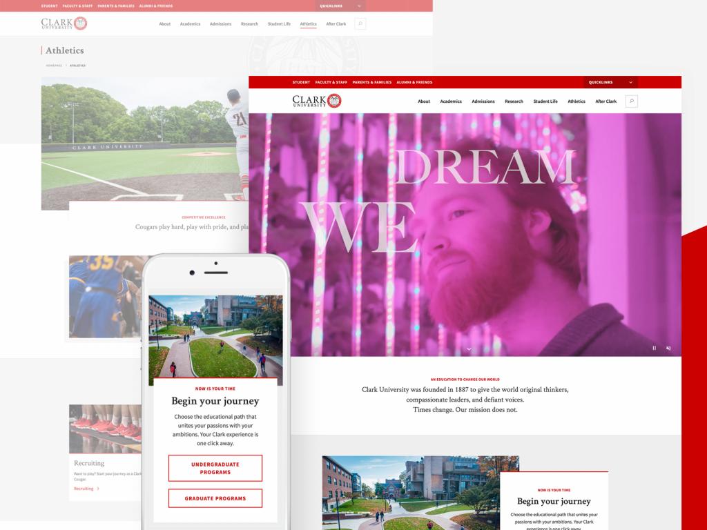 New Clark University Website Design