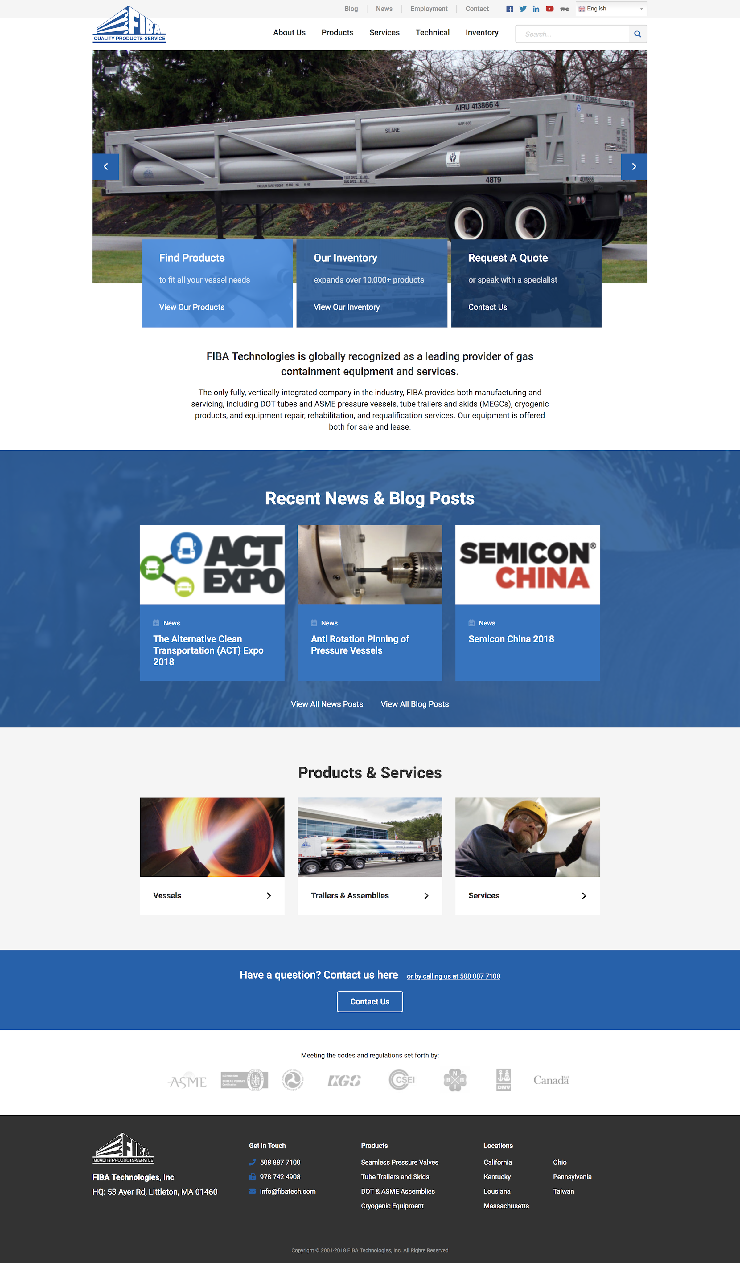 FIBA Tech website design – full home page