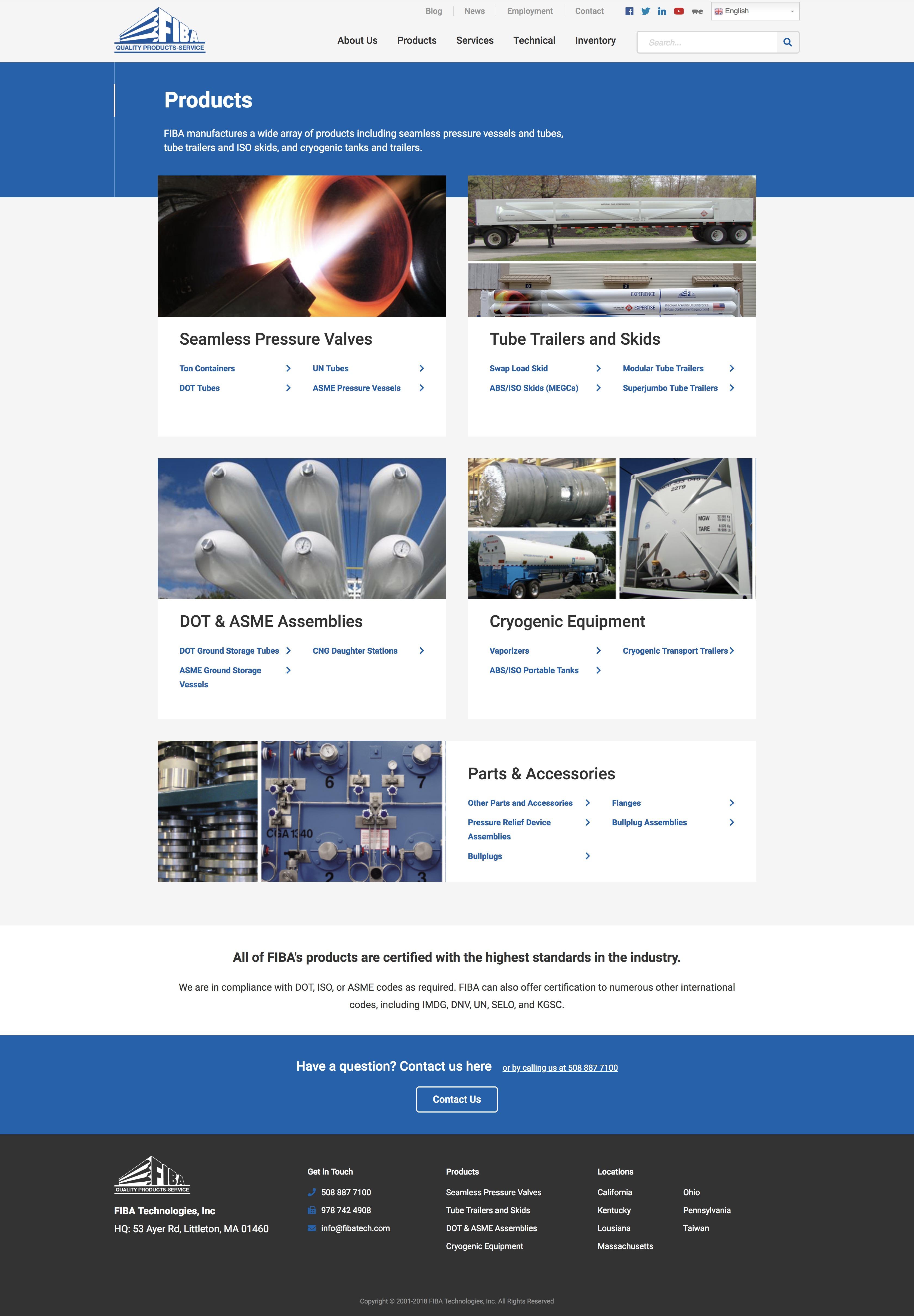 FIBA Tech products landing page