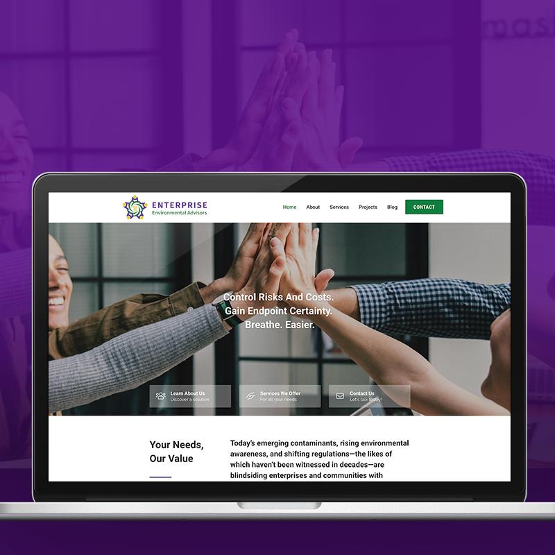Enterprise Environmental Advisors website design