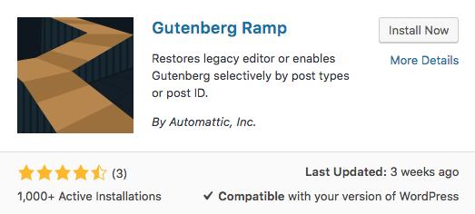 Gutenberg Ramp Plugin