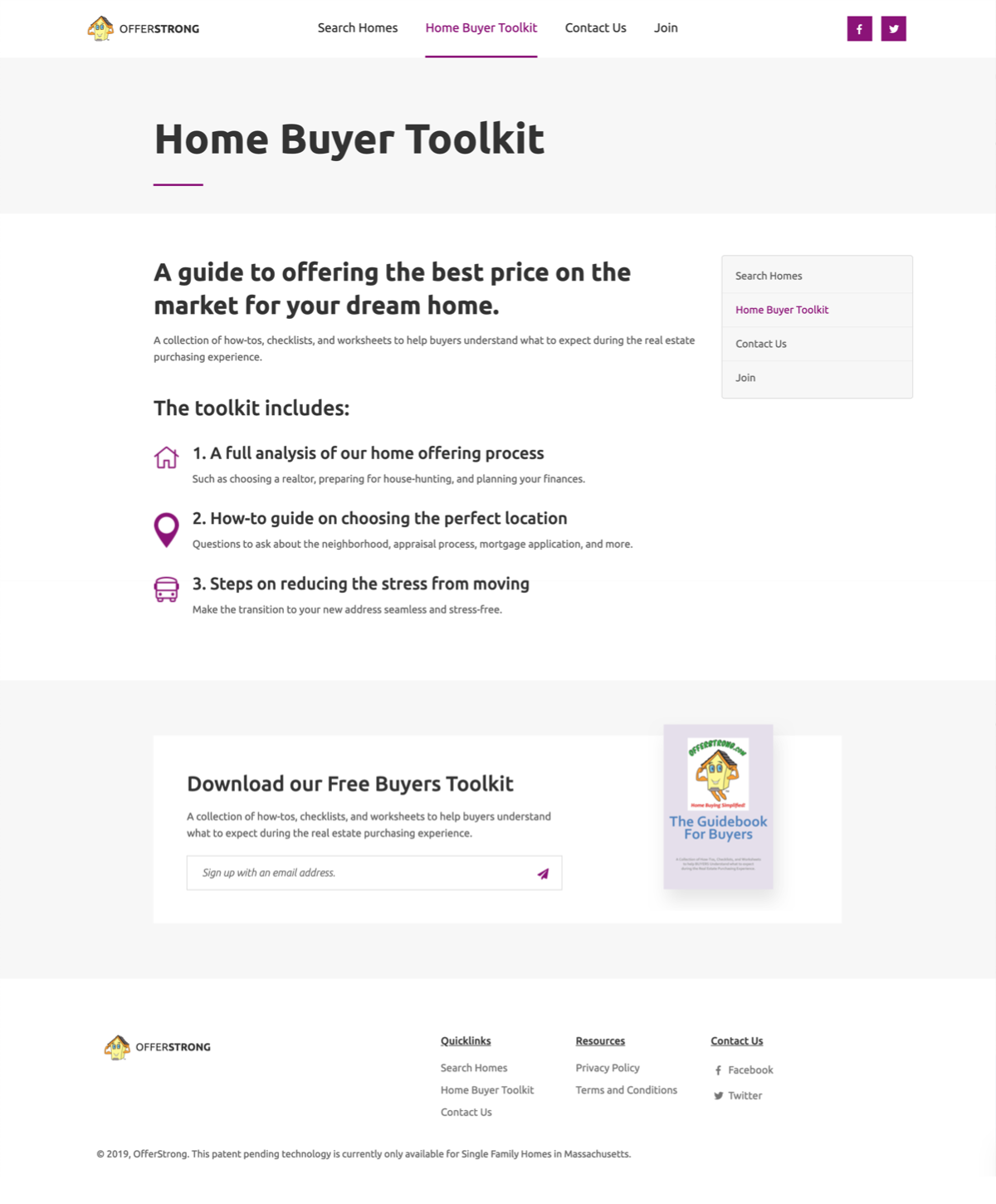 OfferStrong's home buyer toolkit