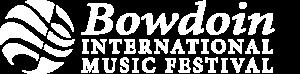 Bowdoin Music Festival white logo