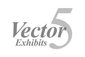 Vector 5 Exhibits logo in grey