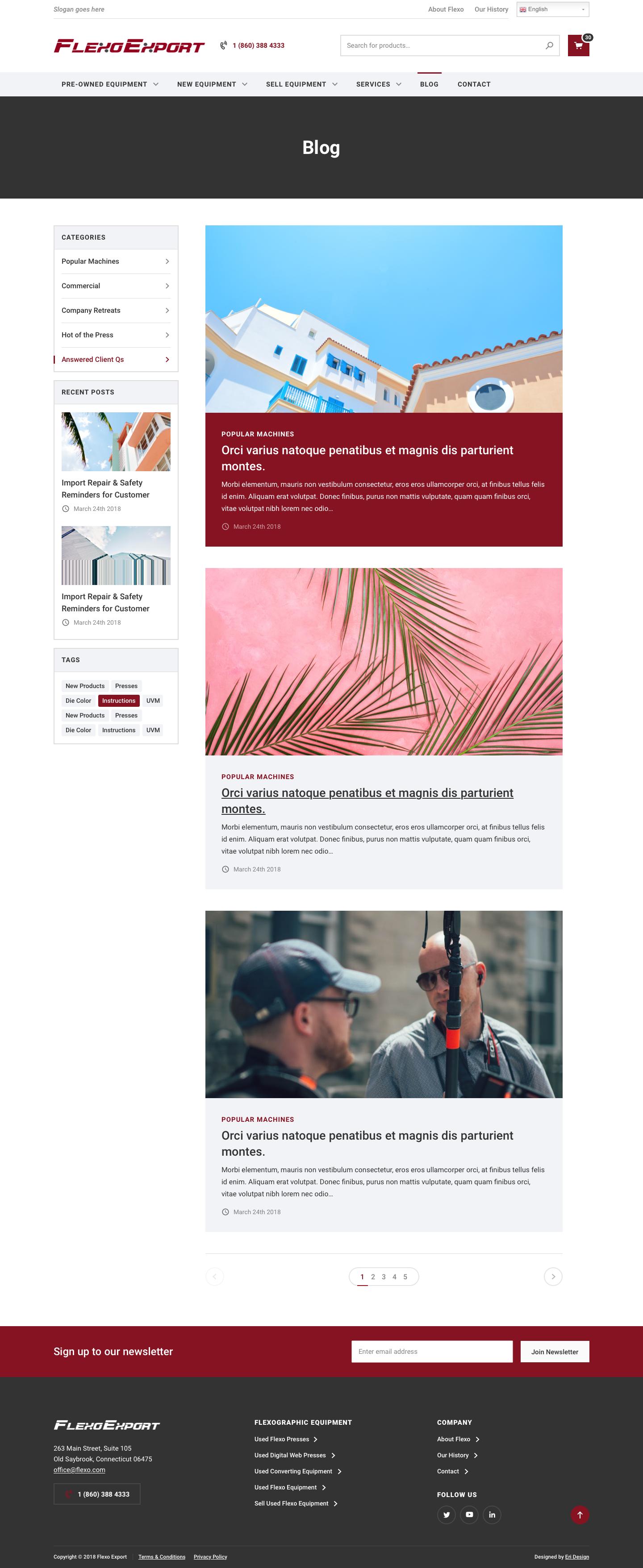 FlexoExport blog landing page design