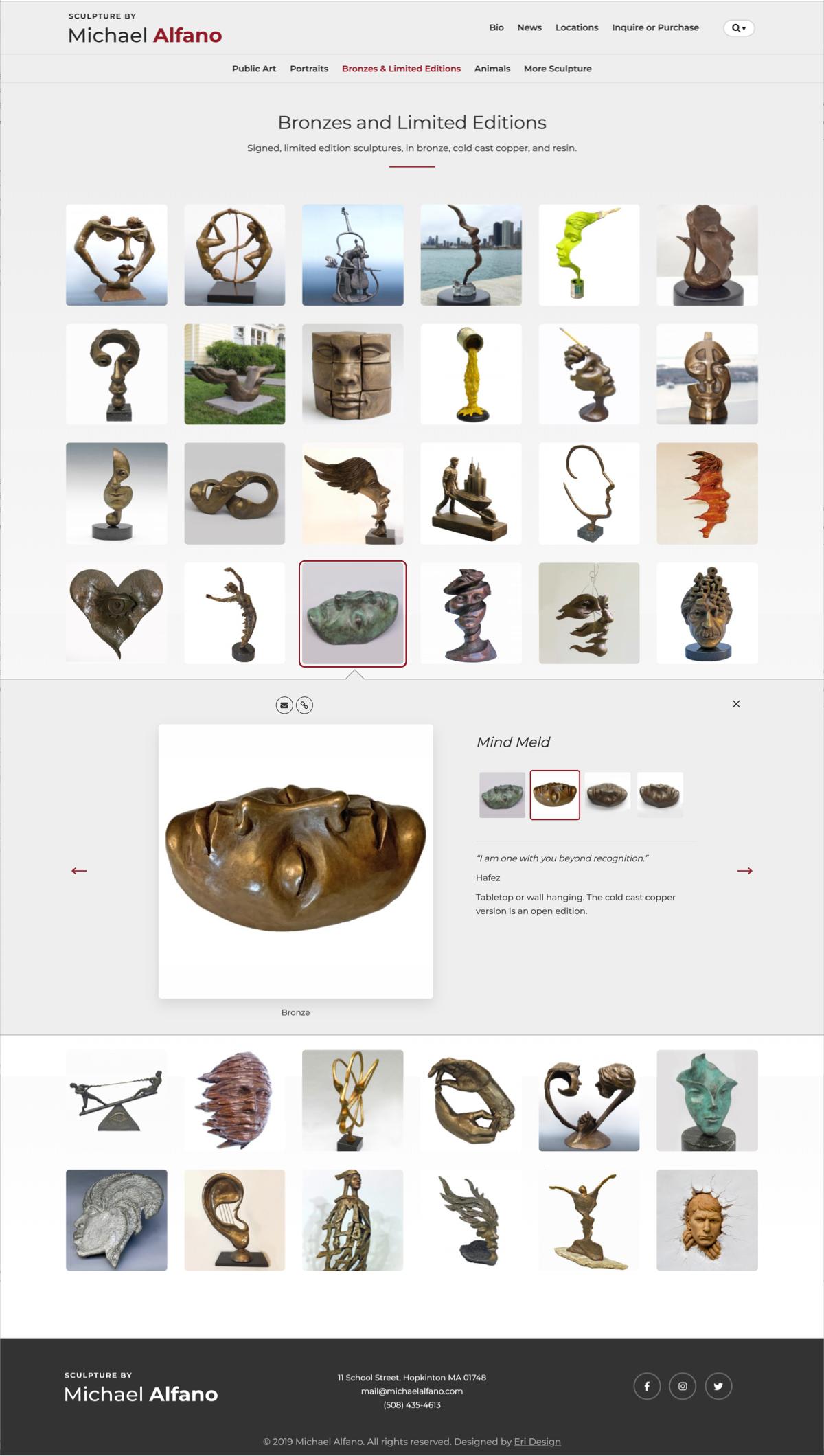 Michael Alfano website gallery component