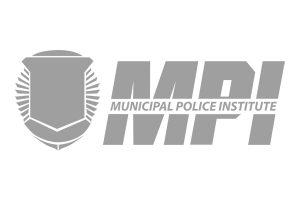 Municipal Police Institute logo, grey