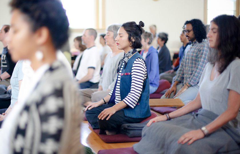 WordPress website for a nonprofit organization –meditation community shown
