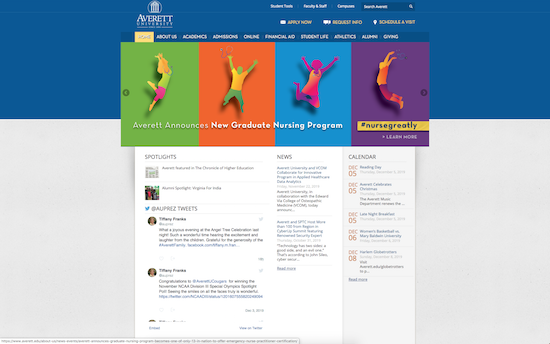 Averett University website