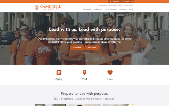 Campbell University website