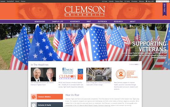Clemson University homepage