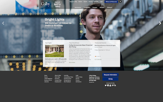 Colby College website