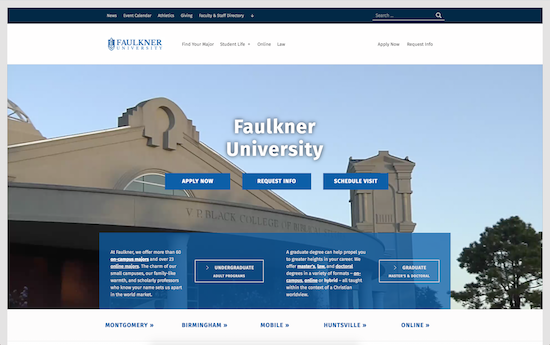 Faulkner University website
