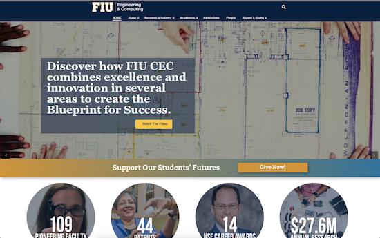 Florida International CEC microsite