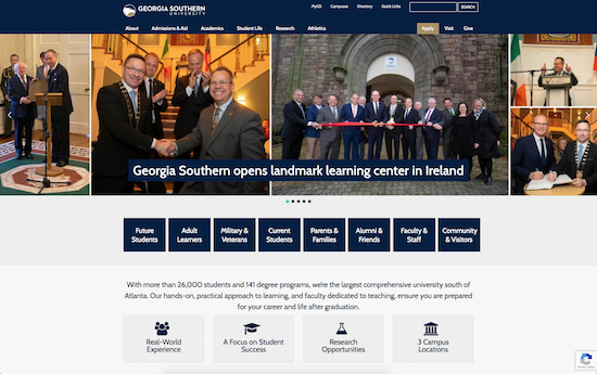 Georgia Southern University website