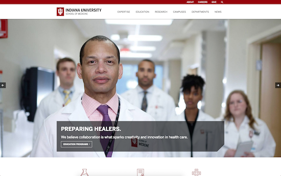 Indiana University School of Medicine microsite